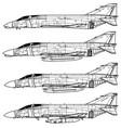 mcdonnell douglas f-4 phantom ii vector image vector image