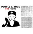 medical receptionist icon with bonus vector image vector image