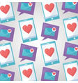 mobile love related vector image