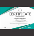 modern certificate or diploma template 3 vector image vector image