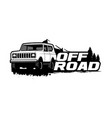 off road logo template vector image vector image