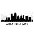 oklahoma city skyline silhouette with black vector image vector image