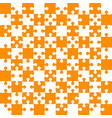 orange puzzle pieces - jigsaw - field chess vector image vector image