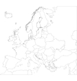 Outline Europe map vector image vector image