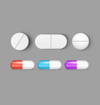 pills medicine capsule icon isolated set vector image vector image