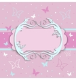 pink card for girls vector image vector image