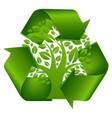 recycle symbol with tree vector image vector image