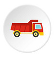 red toy truck icon circle vector image vector image