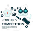 robotics competition technologies and construction vector image