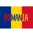 Romanian flag and word Romania vector image vector image