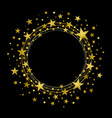 round wreath of gold stars vector image