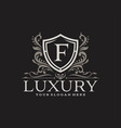 royal luxury logo design template vector image vector image