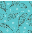 Seamless pattern of abstract feathers vector | Price: 1 Credit (USD $1)