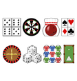 Set casino tools vector image