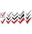 set check mark isolated icon vector image vector image