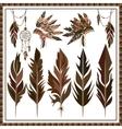 Set Dream Catcher feathers beads war bonnet vector image vector image