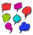 set of empty comic style speech bublesdesign vector image