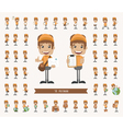 Set of postman character vector image