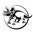 silhouette sketch herbivorous dinosaur triceratops vector image