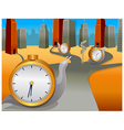 Snail clock moving direction vector image vector image