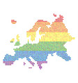 spectrum dotted lgbt europe map vector image