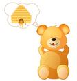 teddy dreams vector image vector image