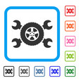 tire service wrenches framed icon vector image vector image