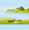 urban summer landscape vector image vector image