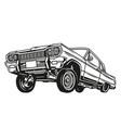 vintage concept low rider retro car vector image