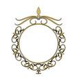 vintage round swirl flourish decoration frame vector image vector image