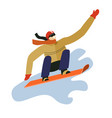 winter sport man on snowboard snowboarder vector image