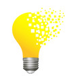 yellow lamp vector image