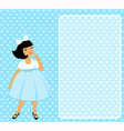 Young vintage girl vector image vector image