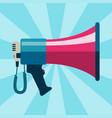 megaphone bullhorn communication message loud vector image
