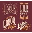 Labor Day vintage hand-lettering designs vector image