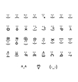 Large set of typography smiley icons vector image