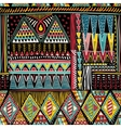 Abstract colorful ethnic seamless pattern vector image vector image