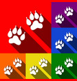 animal tracks sign set of icons with flat vector image vector image