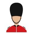avatar british guard graphic vector image vector image