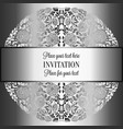 baroque background with antique luxury silver and vector image vector image