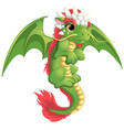 beautiful green dragon vector image