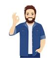 big man gesturing ok sign vector image vector image