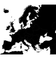 Black Europe map vector image vector image