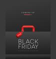 black friday sale black shopping bag concept vector image vector image