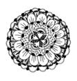 Black outline flower vector image vector image