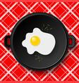 breakfast fried eggs vector image