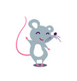 cartoon cute rat in simple flat style vector image vector image