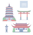 chinese architecture landmarks oriental vector image