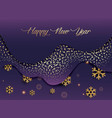 christmas and new year greeting card golden vector image vector image