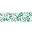 christmas mistletoes seamless border vector image vector image